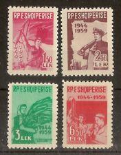 Albania 1959 Liberation SG632-635 MNH
