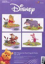 Winnie Pooh-Ranas Y Pollitos Conjunto de 4-Kit Punto De Cruz * Nuevo *