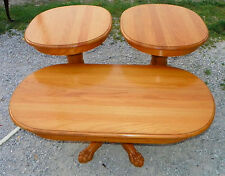 Solid Oak Coffee Table & Pair of End Tables  (CT105)