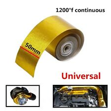 "200"" Gold Tape High Performance Reflective Heat Protection Roll Turbo Engine"