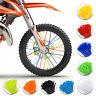 72Pcs Motorcycle Dirt Bike Spoke Skins Covers Wraps Wheel Rim Guard Protector US