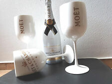 6 x Moet & Chandon Ice Imperial Champagner Glas Acryl Becher Limited Edition