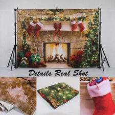 8x12 FT Christmas Vinyl Photography Backdrop,Rustic Wooden Backdrop December Old Christmas Noel Time Theme Ribbon Print Background for Baby Shower Bridal Wedding Studio Photography Pictures