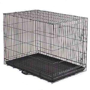 "DOG CRATE 24x17x20"" Medium Pet Kennel Cage Folding Portable Travel Metal"