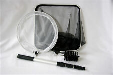 4-In-1 Combo Pond Care Net Set with Telescopic Pole, Daily Pond Care in One Box