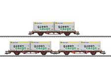 Märklin 47724 container-trag vagón-set lgjns de la SJ 3 PIEZAS # NUEVO EN EMB.