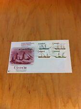 Fdc Canada Coastal Ships 4 Stamps Ottawa Canada September 24 1975 F1-L22 *