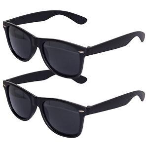 2 Stück Sonnenbrille 80er Nerd Brille Schwarz Retro Atzenbrille Brillen CE UV400