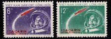 NORTH VIET NAM  Scott 160-161  Yuri Gagarin set NGAI CV $24