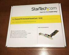 SCHEDA AUDIO PCI 5.1 STARTECH PCISOUND5CH2 nuova.