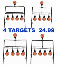 4 PACK GALLERY SWINGING TARGET Spinning Auto Reset Set Air Rifle Shooting HFT