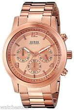 GUESS Men's Contemporary Rose Gold-Tone Chronograph Watch U16003G1