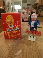 Modern Toys Occupied Japan Celluloid & Metal Xylophone Player Wind-Up Toy & Box