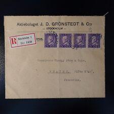 SCHWEDEN SWEDEN BRIEF EMPFEHLEN COVER CAD STOCKHOLM 1925 -> BEAUNE FRANKREICH