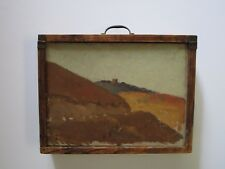 FRANK TOLLES CHAMBERLAIN PAINTING BOX SIGNED ANTIQUE AMERICAN IMPRESSIONISM OLD
