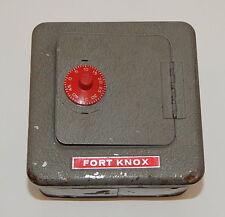 Vintage Superior Mfg. Co.Toy Metal Combination Safe Fort Knox Bank R8913