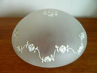 Vintage/Retro Ceiling Shade Frosted Glass Great Condition Flower Decoration