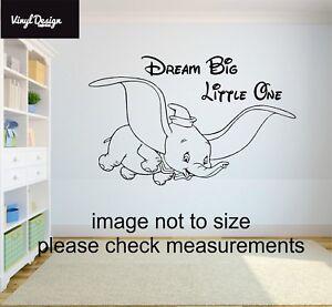 Dumbo disney dream big little one babies/children vinyl wall art