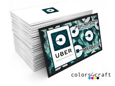 250 Full Color Uber  Business Cards  - Rush Printing Service - Elegant Cards