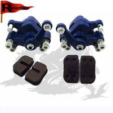 Blue Front & Rear Pinza freno a disco Per 47cc 49cc Pocket Bike Minimoto