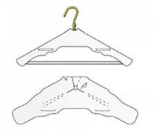"""500 Premium Low Lint Dry Cleaning Garment Shoulder Guards For Hangers 19"""""""