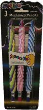 3 Pack Kids Softies Child Refillable Mechanical Lead Pencil Soft Grip Eraser