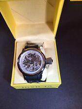 Invicta Men's 1242 Russian Diver Quinotaur Mechanical Silver Skeleton Dial Watch