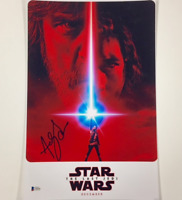 ANDY SERKIS Signed STAR WARS The Last Jedi 11x17 Poster Photo w/ BAS Beckett COA