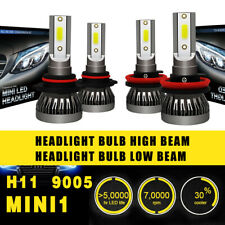 4PC 9005 H11 LED Headlight Coversion Bulb Kit High Beam 97500LM 650W White 6000K