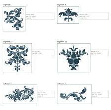 """ABC Designs Royal Oasis Frames Machine Embroidery Designs Set for 5""""x7"""" Hoop"""