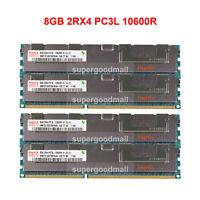 For Hynix 8GB 16GB 2RX4 PC3L-10600R DDR3-1333MHz Reg-DIMM ECC Server Memory CL9