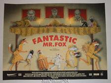 Zeb Love Fantastic Mr Fox Movie Poster Print Signed Numbered Doodled Art