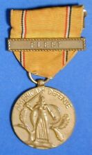 UNITED STATES AMERICAN DEFENSE SERVICE MEDAL WITH FLEET BAR                R8054