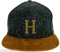 HUF Cap Tweed Metal Black HUF  Wordwide D.B.C  Made IN USA HUF