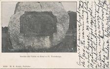 Ft. Ticonderoga NY * Boulder & Tablet on Road  1908 * H.R. Hulett Pub.