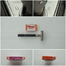 Vintage 1974 Gillette Super Adjustable Safety Razor  U 2 + (5 Minora blades)