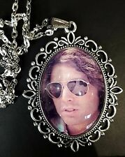 Jim Morrison Large Antique Silver Pendant Necklace Music Icon Doors