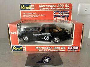 1988 Revell 1:24 Die Cast Car Black Mercedes 300SL Carrera Panamericana 8606