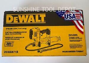 NEW IN BOX DEWALT DCGG571B 20V MAX Li-Ion Grease Gun (Tool Only) New