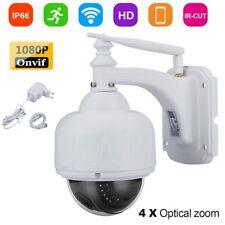 4X ZOOM HD 1080P 2MP CCTV IP Kamera PTZ WLAN Wifi Outdoor Dome IR Nachtsicht LK