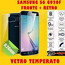 Pellicola in VETRO temperato per SAMSUNG S6 G920F 0.26mm FRONTE + RETRO Antiurto