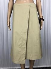 ** CUE ** Sz 6 Beige Cotton Blend Occasion Wrap Skirt - (B248)