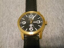 Invicta Men's Model 1047 Railroad Approved Watch Gold Case Black Dial black Band