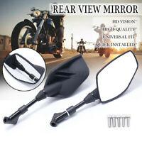 Universal Motorcycle Handle Bar End Mirrors Rear View Rearview Mirror For