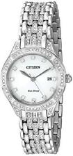 Citizen Eco-Drive Ladies Stainless Steel Silhouette Crystal Watch # EW2320-55A