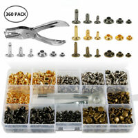 360x Metal Snap Fasteners Kit Press Studs Buttons With 4pcs Fixing Craft Tools!