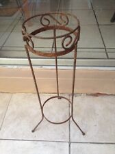 """Wrought Iron Old Plant Stand Raised Planter Garden Home Decor 27""""x8"""" Rusty"""