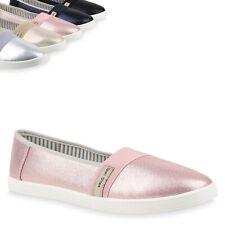 Damen Slippers Übergrößen Slip Ons Ballerina Flats Freizeit Schuhe 822093 Top