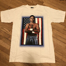 Oscar De La Hoya Vintage 1996 Caesars Palace Tee Shirt Large Boxing White Boxer