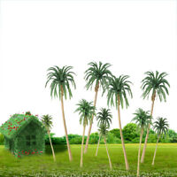 15 Pcs Plastic Coconut Palm Trees Model Train Railroad Diorama Scenery HO Scale